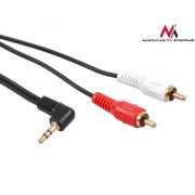 Maclean MCTV-825 Jack Angled 90° to 2 RCA Cable 3m black