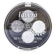 Lavera Beautiful Mineral Eyeshadow Quattro - # 01 Smoky Grey - 4x0....