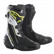 Alpinestars Stivali Moto Racing Supertech R Black Yellow Fluo White Cod. 2220015