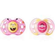 Комплект ортодонтични залъгалки Fun Style Girl, 18-36 месеца, Tommee Tippee, 2600017
