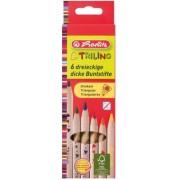 Creioane colorate triunghiulare 1/1 Trilino 6 buc/set Herlitz