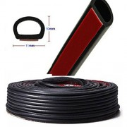 AST Works 4M Small D-Shape Car Truck Door Rubber Hollow Seal Strip Edge Trim Weather Mould
