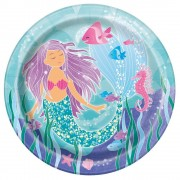 Mermaid Party Plates (Pack of 8)