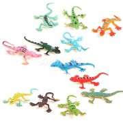ELECTROPRIME® 2x 12x Plastic Wildlife Animal models Small Lizard Gecko Figures Kids Toys Gift