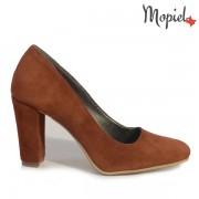 Pantofi dama din piele naturala 24423/Caramiziu/Curacao