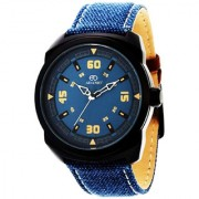 Adamo Blue Synthetic Round Analog Watch for Men