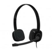 Fejhallgató, mikrofonnal, vezetékes, LOGITECH H151 (LGFH151)