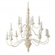 Maisons du Monde Lampadario color crema 20 bracci in metallo e legno D 90 cm CONSTANCE