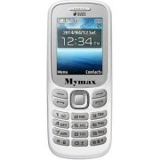 My Max 312 Dual Sim Mobile Phone With 1.8 Inch Display 1050 Mah Battery With Vibration (White Color)
