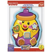 Fisher-Price Cookie Jar Shapes Learning Friends Chunky Wood Puzzle (Laugh and Learn), 6-Piece