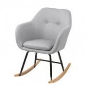 Meubelen-Online Fauteuil Fancy schommelstoel stof licht grijs