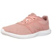New Balance Women's 415v1 CUSH + Sneaker, dusted peach/champagne metallic/white, 5 W US