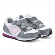 NIKE Grey and Pink Nike MD Runner 2 Sneakers Barnskor 38.5 (UK 5.5)