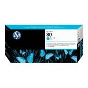 HP Cabezal de Impresión Original HP 80 C4821A Cián para DesignJet 1050c, 1050c plus, 1055cm, 1055cm plus