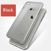 Luxury Crystal átlátszó, puha szilikon iPhone tok - Fekete, 6/6s/7/8