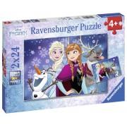 PUZZLE FROZEN, 2X24 PIESE - ANNA / ELSA - RAVENSBURGER (RVSPC09074)