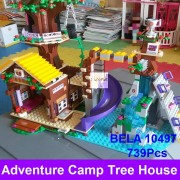 2016 BELA 10497 Building Bricks Compatible Lepin Friends Blocks Adventure Camp Tree House 41122 Emma Mia Figure Toy For Children