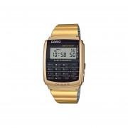 aac3b489a71e Reloj Casio Vintage CA506 CA-506G-9ADF Calculadora Databank - Dorado