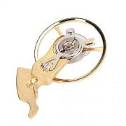 TMISHION Muelle de la Rueda de Equilibrio del Reloj, Soporte de la Rueda del Reloj para Instalar y Quitar el Reloj, reparación del Reloj Accesorio reemplazable(Oro)