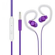 Универсални слушалки (с микрофон) 3.5mm - модел SP80 (лилаво)