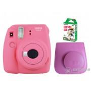 Aparat foto analog Fujifilm Instax Mini 9 , flamingo pink + toc + film (10 buc.)