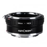 K&F Concept Nikon-NEX II adaptor montura Nikon AI la Sony E-Mount (NEX) KF06.309
