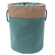 Cos textil rufe baie rotund OROPOL, 0188148, 40xH50cm Bej-verde