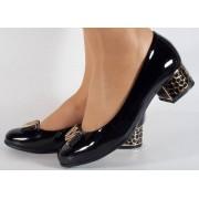 Pantofi negri lac eleganti (cod 15-46227)