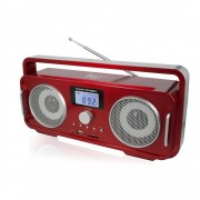 Black Panther City Altavoces Bluetooth Black Panther City FUNNY STREET Ghetto blaster Rojo