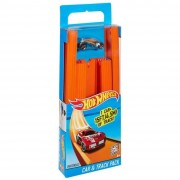 Mattel hot wheels bht77 - confezione da 15 rettilinei e 1 veicolo