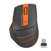 Оптична мишка A4tech FG30 Fstyler, 2000 DPI, безжична, oранжев, A4-MOUSE-FG30-OR