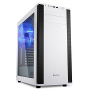 Sharkoon M25-W White ATX Tower PC Gaming Case with Side Window