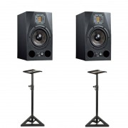 Adam A7X Active Studio Monitor (Pair) Bundle With Monitor Stands
