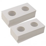 """Segolike 100 Pieces 2""""x2"""" Stamp Square Coin Cover Holders Storage Cases 23mm Coin Supply"""