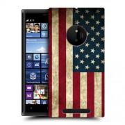 Husa Nokia Lumia 830 Silicon Gel Tpu Model USA Flag