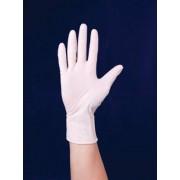 Védőkesztyű, egyszer használatos, latex, 6-os méret (ME610)