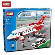 GUDI 334pcs Airplane Toy Air Bus Model Aircraft Blocks Sets Model DIY Bricks Classic Toys Compatible With Legoe (8911)