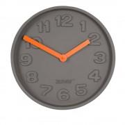 ZUIVER Horloge Zuiver CONCRETE TIME orange finition beton
