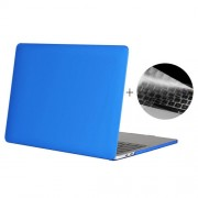 ENKAY Hat-Prince 2 in 1 Frosted Hard Shell Plastic Protective Case + US Version Ultra-thin TPU Keyboard Protector Cover for 2016 New MacBook Pro 13.3 inch without Touchbar (A1708) (Dark Blue)