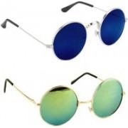 SRPM Round Sunglasses(Blue, Green)