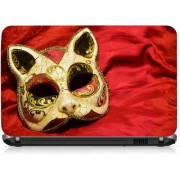 VI Collections Yellow Mask Printed Vinyl Laptop Decal 15.5