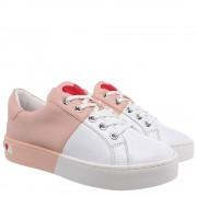 Moschino Sneakers Donna in Pelle Bicolor Bianco e Cipria