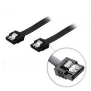 . SATA-kabel, SATA 6Gb/s, lås-clips, rak-rak, 0,5m, svart