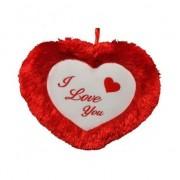 Geen Pluche hartjes kussen I Love you 45 cm Rood