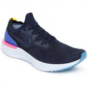 Nike Navy Epic React Flyknit Navy Running Shoes