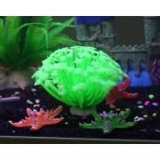 Oanda Planta Artificial Coral Sea Anemone Para Silicion Decoración Del Acuario Acuático Artes Segura Ornamento, Verde