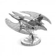 Modelo de rompecabezas de bricolaje 3D de juguetes educativos montado ala de murcielago - plata