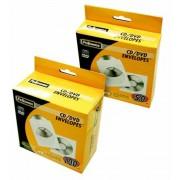 CD/DVD boríték, papír, ablakos, FELLOWES, fehér (IFW90691)