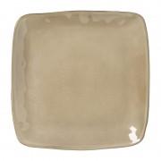 Xenos Vierkant bord Toscane - bruin - 25 cm