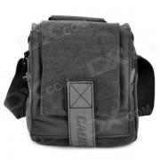 CADEN M1 Resistente al agua Nylon bolso de una camara de hombro para Nikon / Canon SLR - Negro